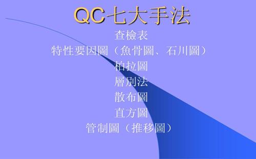 QC七大手法